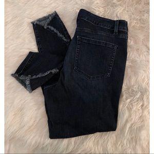 🔗 Lane Bryant   Skinny Dark Frayed Hem Jeans 🔗